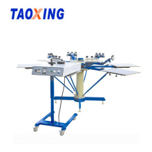 6 Color 6 Station Rotary T-shirt Screen Printing Machine